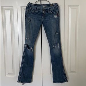 Silver Flare Jeans